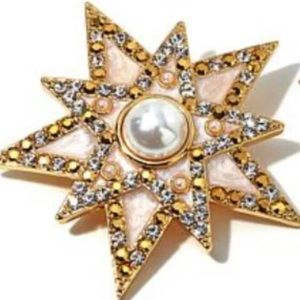 Jay Strongwater Signed Crystal Accent Star Pendant